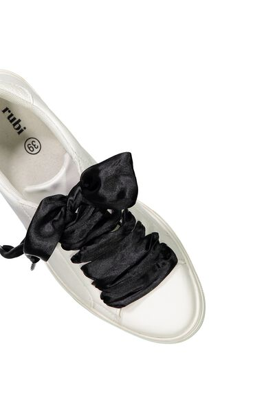 Laced Up Shoelaces, BLACK WIDE SATIN