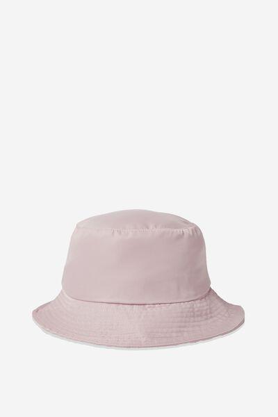 Bella Bucket Hat, CRYSTAL PINK NYLON
