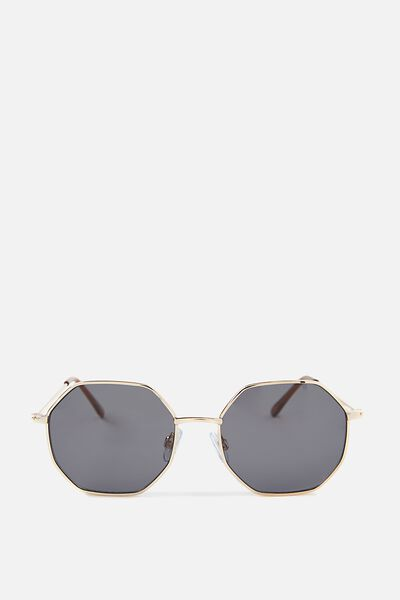 Luca Cateye Sunglasses, GOLD/SMOKE