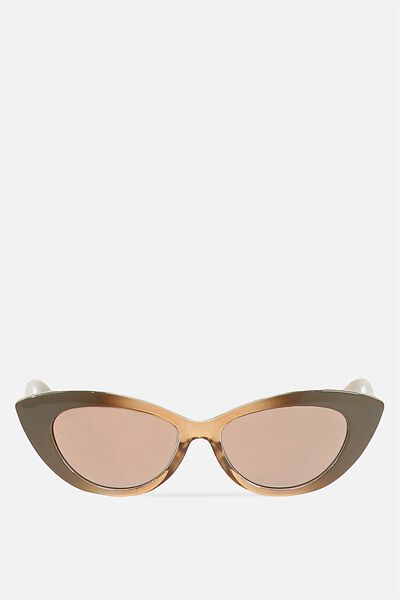 Delilah Cat Eye Sunglasses, ESPRESSO