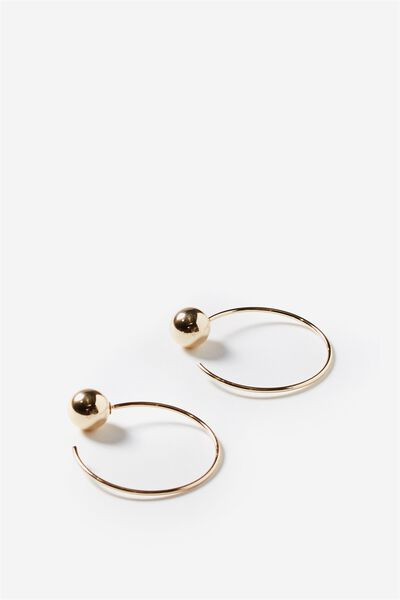 Simple Thread Earring, GOLD