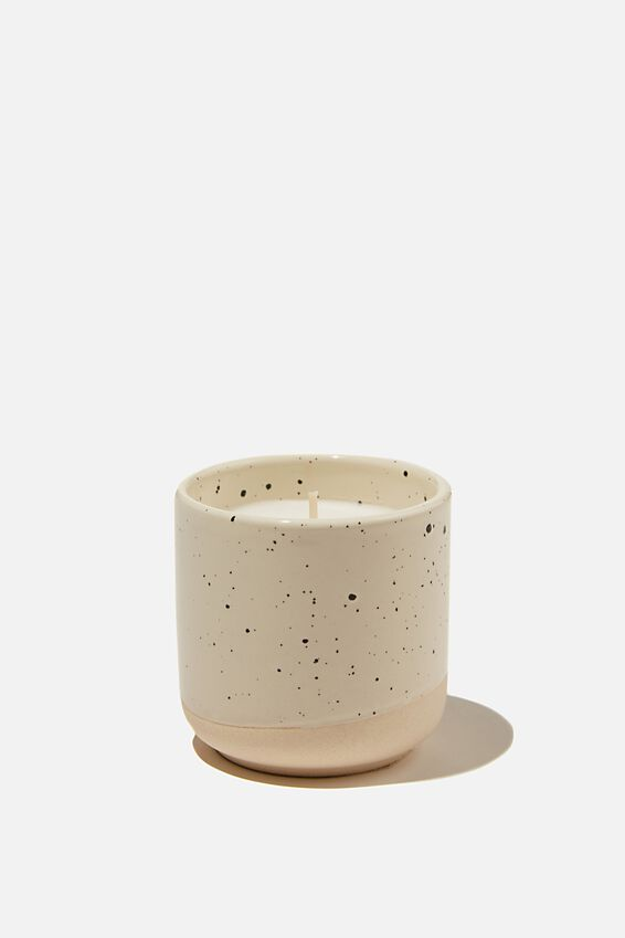 Oasis Candle, WHITE SPECKLE