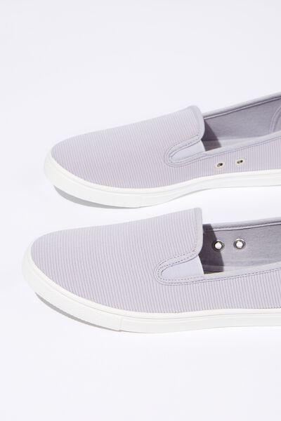 Hazel Slip On Sneaker, PALE BLUE RIB