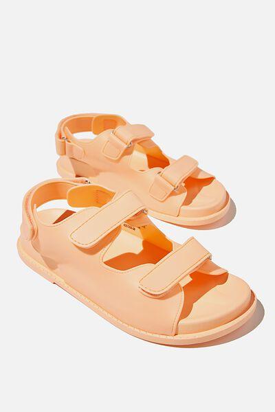 Mimi Moulded Sporty Sandal, PEACH