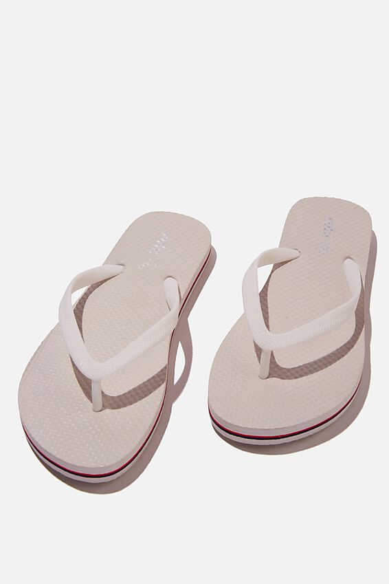 The Rubi Flip Flop, OFF WHITE NAVY STRIPE
