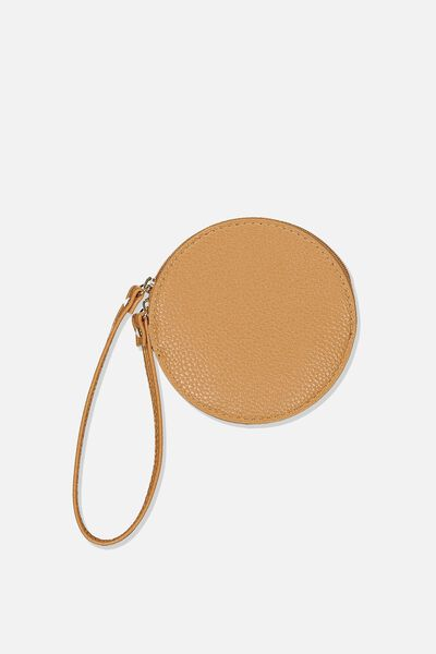 See You Around Coin Purse, TAN PEBBLE
