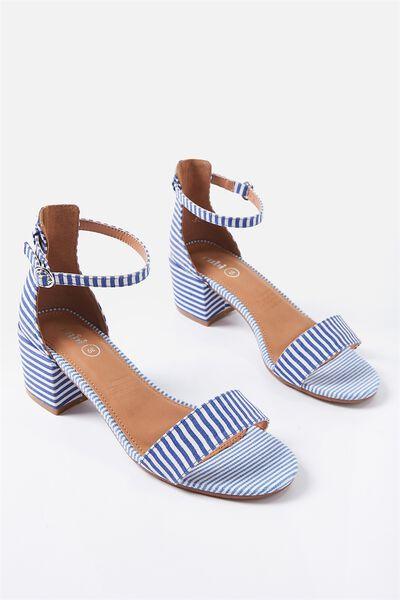 Ivy Low Block Heel, MOONLIGHT BLUE STRIPE