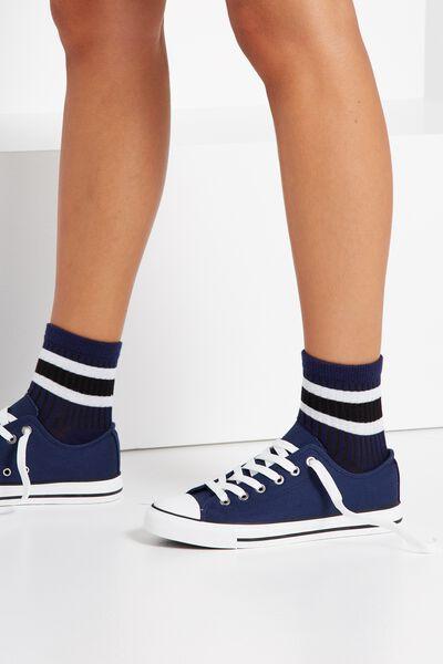 Marley Sporty Sock, NAVY