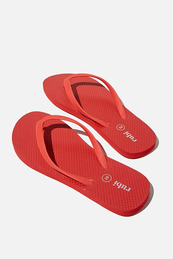 The Rubi Flip Flop, RED