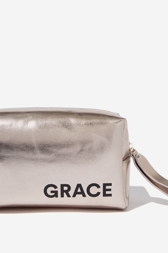 Personalised Marlee Cosmetic Case, ROSE GOLD