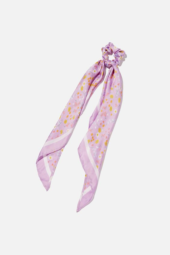 New York Convertible Scrunchies, JORDIE FLORAL FROSTY LILAC