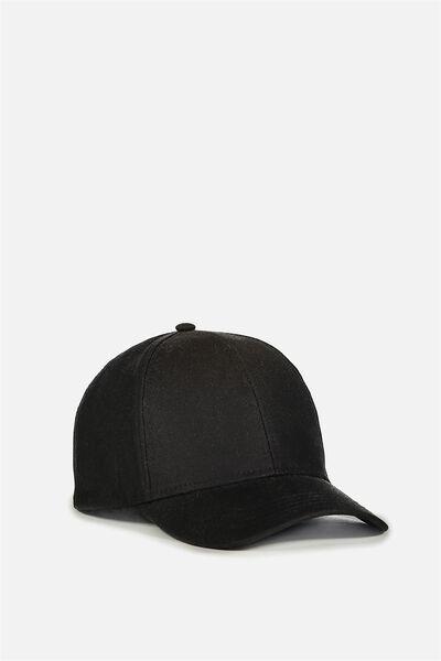 Nancy Cap, BLACK WOVEN