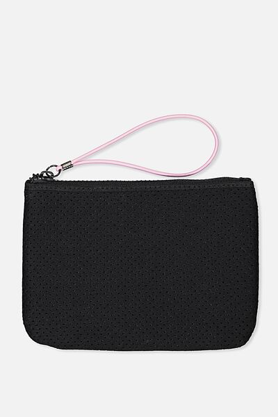 Active Perforated Clutch, BLACK
