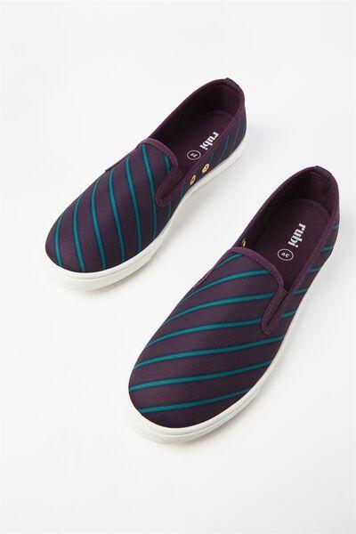 Hazel Slip On Sneaker, BLACKBERRY VARSITY STRIPE