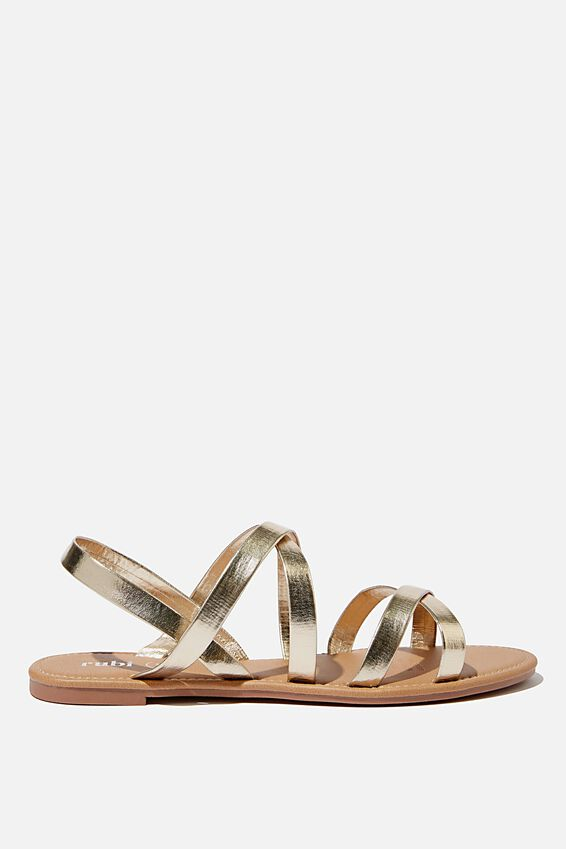 Everyday Strappy Sling Back, GOLD METALLIC