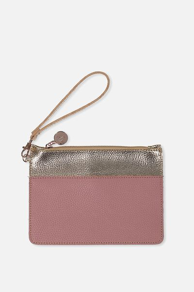 Margot Clutch, DEEP ROSE/ROSE GOLD