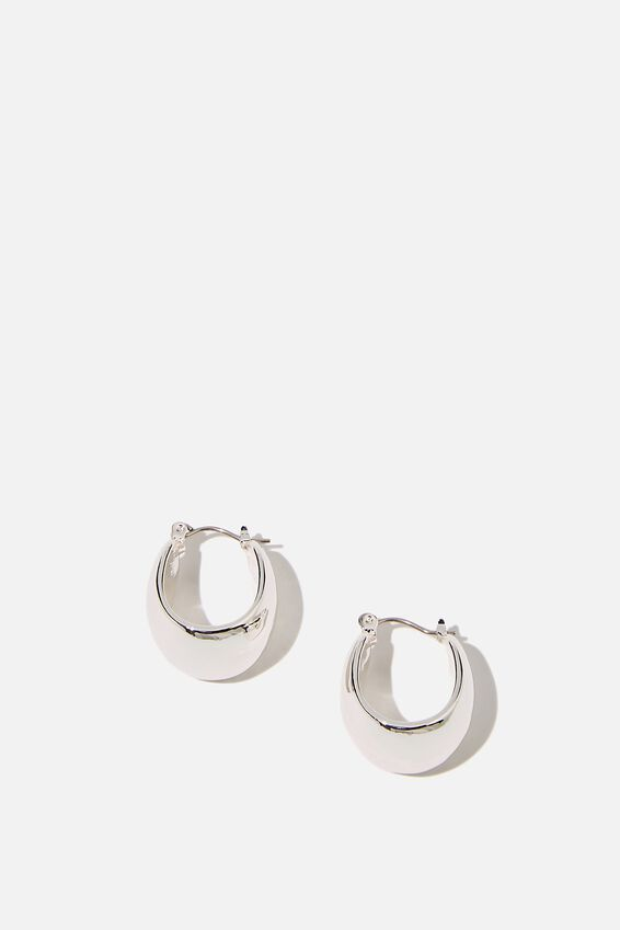 Luxe Layers Hoop, WIDE SILVER