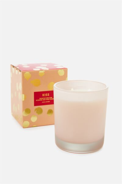 Large Box Candle, BLUSH/FRENCH CANCAN