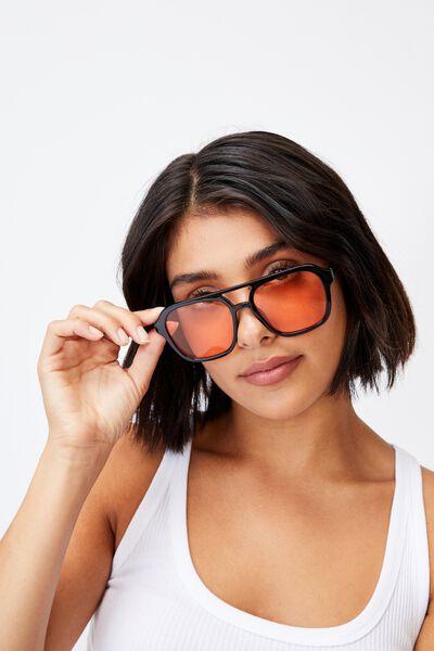 Jamie Aviator Sunglasses, BLACK