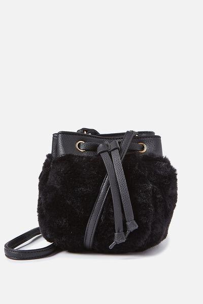 Mini Mya Drawstring Bag, BLACK