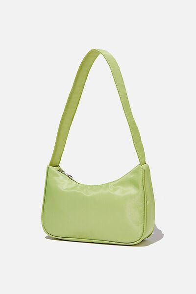 Nylon Underarm Bag, FRESH LIME