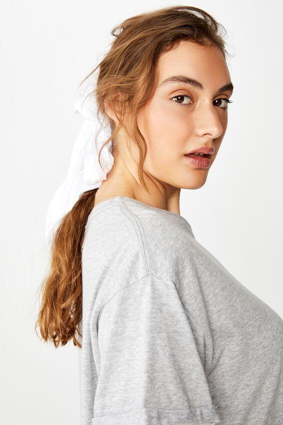 Audrey Hair Scarf, WHITE