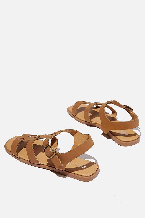 Marley Chunky Gladiator Sandal, TAN NUBUCK