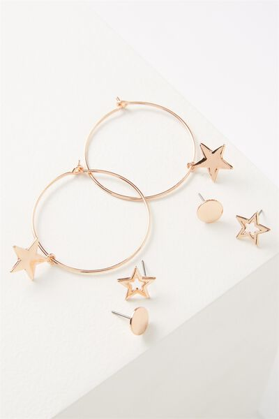 Mintar Star Core Stud Pack, ROSE GOLD