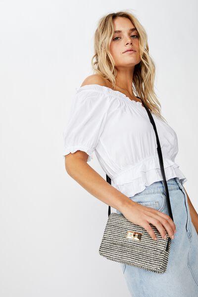 Summer Days Bag, B/W WOVEN