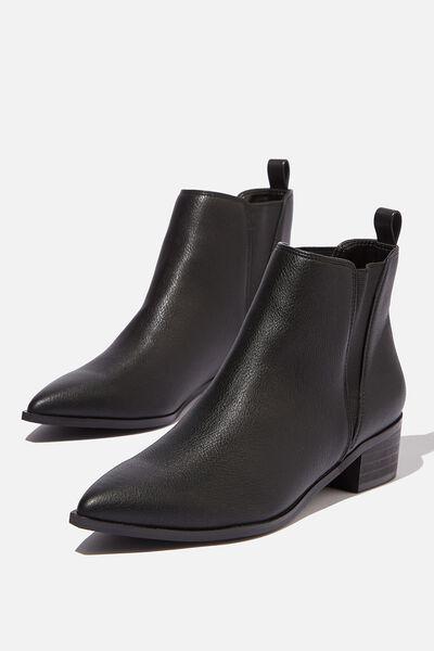 Shoreditch V Gusset Boot, BLACK