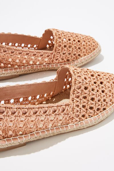 Vittoria Woven Espadrille, WASHED CORAL