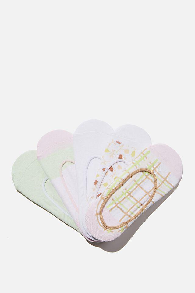 5Pk Low Cut Sock, PASTRY MIX