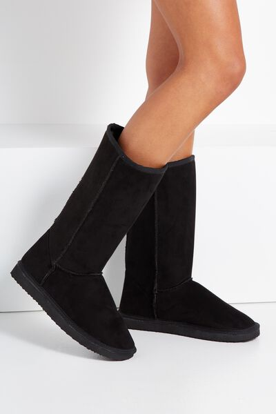 Tall Home Boot, BLACK