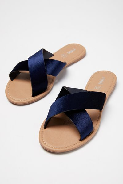 Everyday Scarlett Xover Slide, NAVY VELVET