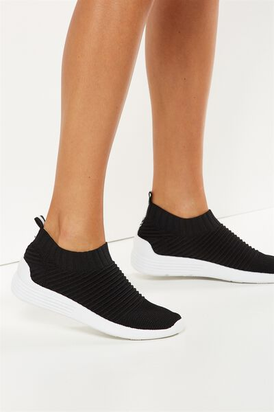 Kara Slip On Trainer, BLACK