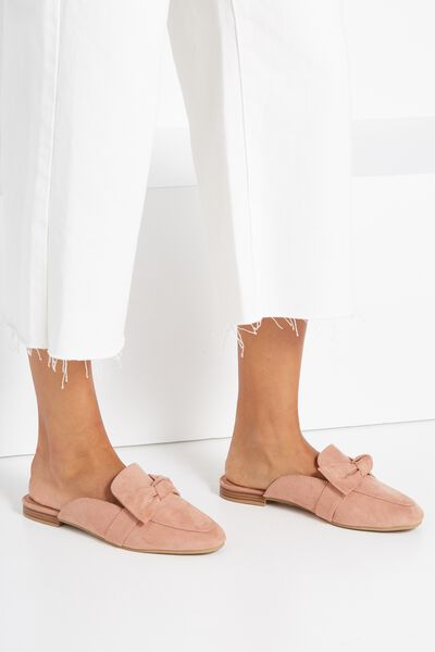 Evie Bow Mule, DARK BLUSH MICRO
