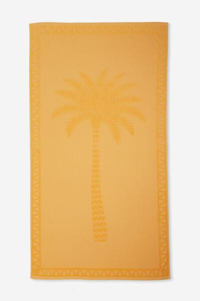 Love A Jacquard Towel, BUTTERCUP PLACEMENT PALM