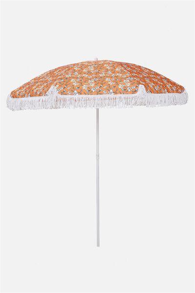 Throwin Shade Umbrella, ORANGE MAXI FLORAL