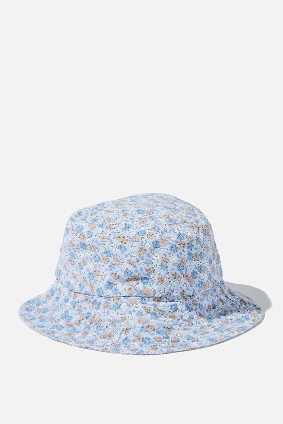 Bianca Bucket Hat, DUSK BLUE KENDELLE DITSY FLORAL