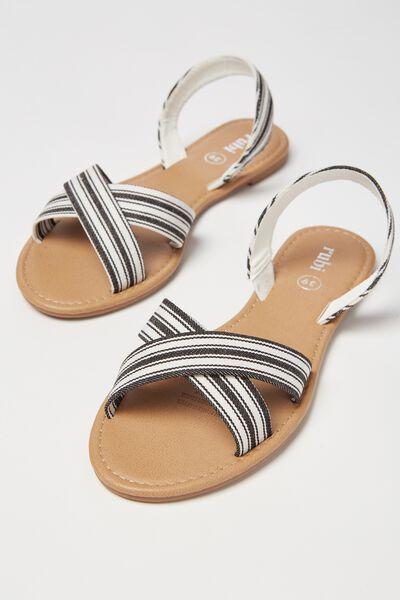 Everyday Banting Crossover Sandal, MONO STRIPE