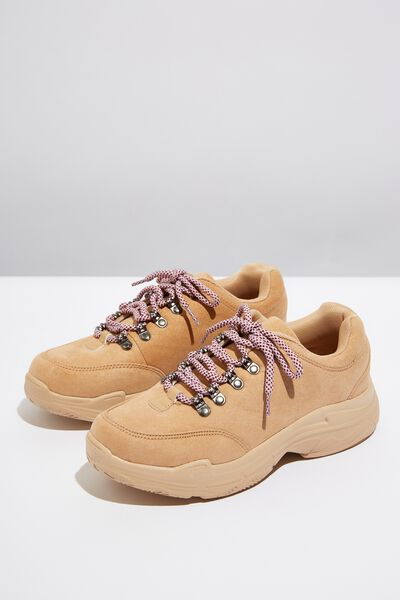 Holly Hiking Chunky Trainer, CAMEL