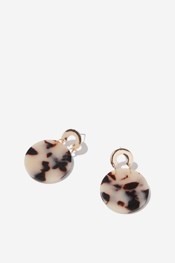 Juliana Animal Earring, GOLD/MULTI DARK
