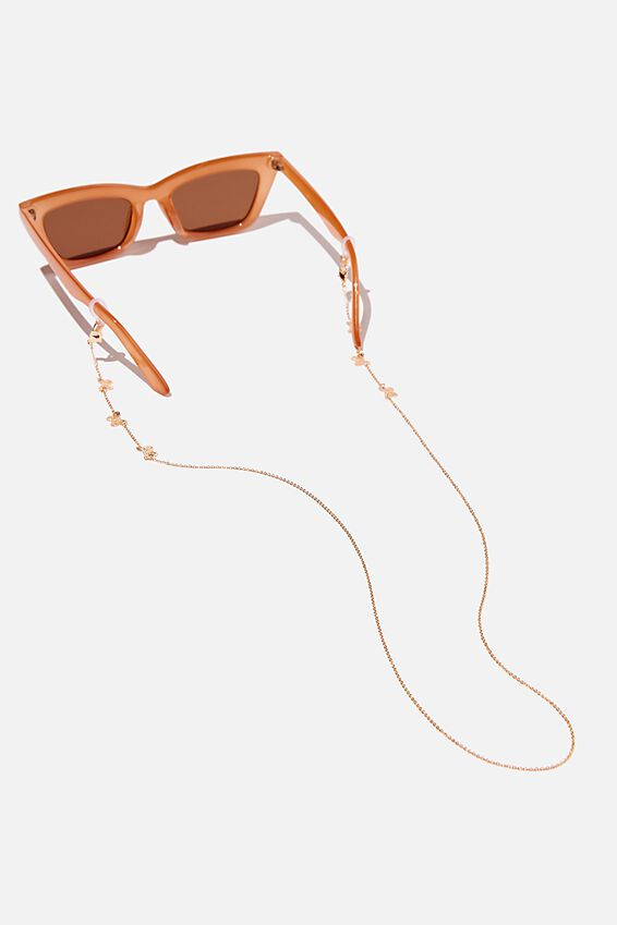 Ava Glasses Chain, BUTTERFLY GOLD