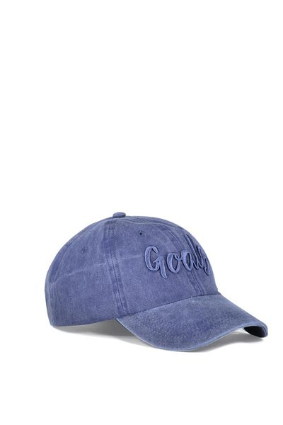 Nancy Cap, INDIGO BLUE W EMB