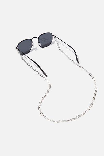 Gigi Glasses Chain, SILVER OPEN LINK