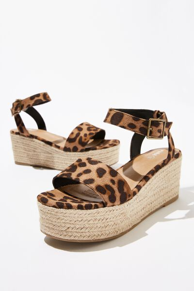 Crystal Espadrille Wedge, LEOPARD