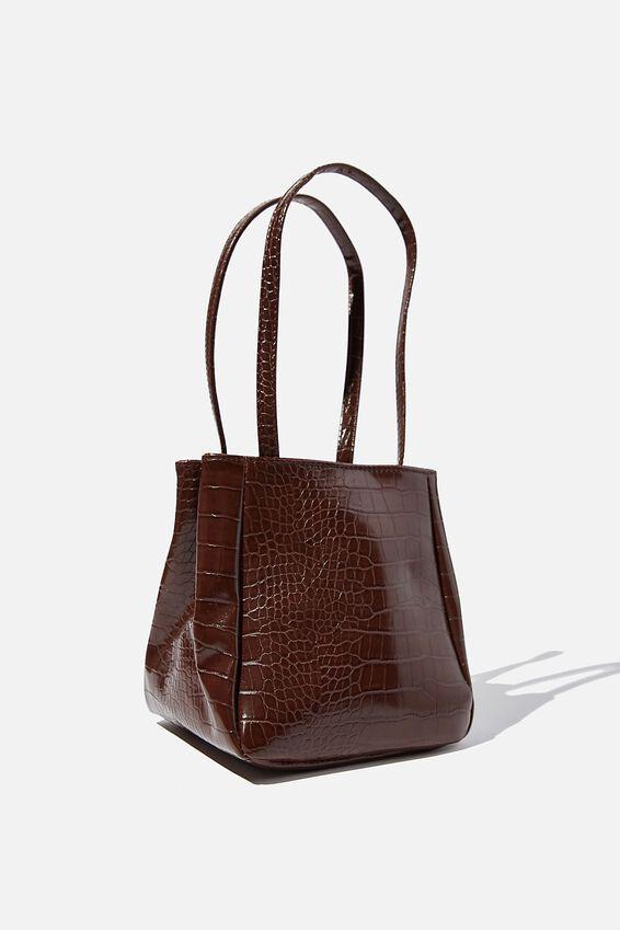 Ella Wristlet Bag, CHOC TEXTURE