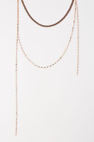 Sanfransico Necklace, ROSE GOLD