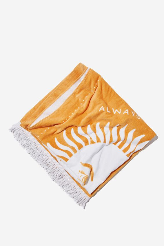 Bondi Rectangle Towel, RISING SUN