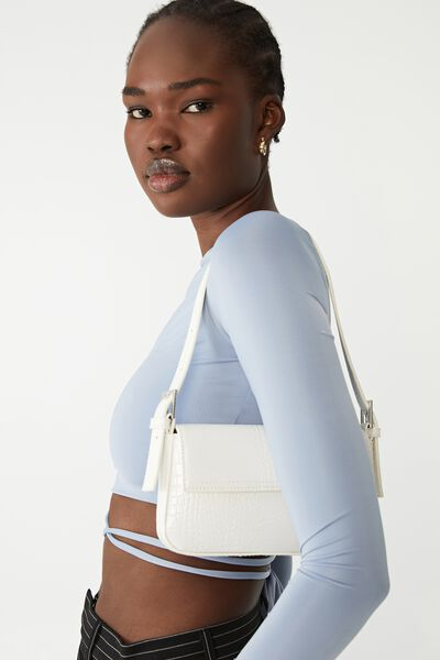 Amy Mini Shoulder Bag, WHITE TEXTURE